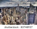 an aerial view over new york... | Shutterstock . vector #83748937