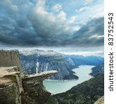 Trolltunga in Norway - stock photo