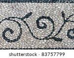 Mosaic On The Pebble Walkway