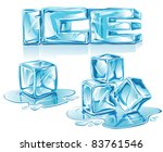 vector ice letters and ice... | Shutterstock .eps vector #83761546