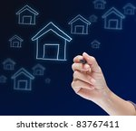 hand drawing house | Shutterstock . vector #83767411