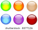 colorful glass buttons with... | Shutterstock . vector #8377126