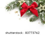 closeup of christmas ornaments... | Shutterstock . vector #83773762