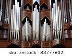 Pipe Organ In Church In...