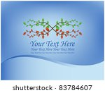abstract blue background with... | Shutterstock .eps vector #83784607
