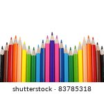 Set Of Color Pencil Isolated O...