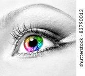 Close Up Of Beautiful Colourfu...