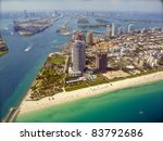 miami skyline   view from plane | Shutterstock . vector #83792686