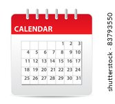 Red Calendar Icon With Days Of...