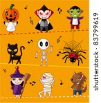 cartoon halloween card | Shutterstock .eps vector #83799619