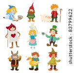 cartoon story people icons | Shutterstock .eps vector #83799622