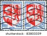 france   circa 1968  a stamp... | Shutterstock . vector #83803339