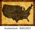 usa map | Shutterstock . vector #83813023