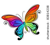 Colourful Vector Butterfly....