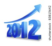 happy new year 2012 with rising ... | Shutterstock . vector #83815642