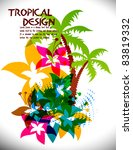 tropical beach party background ... | Shutterstock .eps vector #83819332
