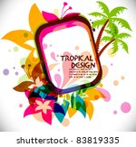 tropical beach party background ...