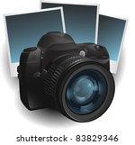 photo camera illustration | Shutterstock .eps vector #83829346