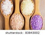 Various Types Of Spa Sea Salt...