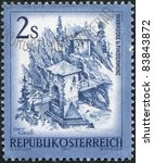austria   circa 1974  a stamp... | Shutterstock . vector #83843872