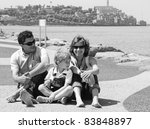 portrait of a happy family on... | Shutterstock . vector #83848897