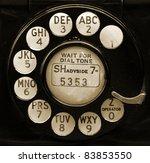 Closeup Of Vintage Telephone...