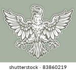 heraldic eagle | Shutterstock .eps vector #83860219