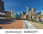 View Of Boston Skyline And Rowe'...