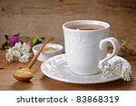 tea and honey - stock photo