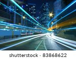 traffic in downtown of a city ... | Shutterstock . vector #83868622