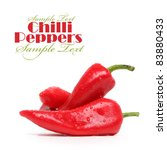 Chilli Peppers  Isolated On...