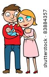 mother  father and their... | Shutterstock .eps vector #83884357