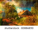 Art Grunge Landscape Showing...