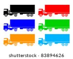 collection of trucks | Shutterstock .eps vector #83894626