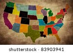 multicolor grunge usa map  ... | Shutterstock .eps vector #83903941