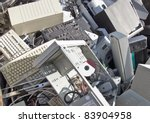 discarded obsolete electronic... | Shutterstock . vector #83904958