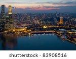singapore skyline and marina... | Shutterstock . vector #83908516