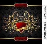 illustration gold floral...   Shutterstock .eps vector #83910367