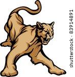 cougar mascot body vector...   Shutterstock .eps vector #83914891