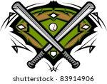 baseball field with softball... | Shutterstock .eps vector #83914906