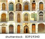 Collage Of Doors  Italy