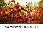 Military War Elephants Paintin...