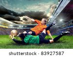 football player on field of... | Shutterstock . vector #83927587