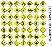 a set of road sign computer... | Shutterstock .eps vector #83933089