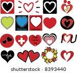 valentine's hearts vector pack | Shutterstock .eps vector #8393440