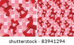 seamless pattern with toys red... | Shutterstock .eps vector #83941294