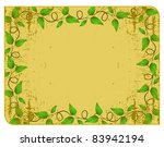 the yellow frame with rounded... | Shutterstock . vector #83942194