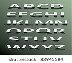 vector chrome alphabet.isolated ... | Shutterstock .eps vector #83945584
