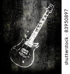 Electric guitar background - stock photo