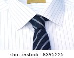 decent shirt with tie close up. | Shutterstock . vector #8395225